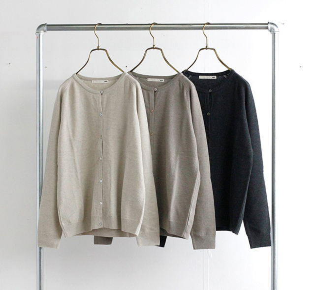 evam eva  エヴァムエヴァ ウールカーディガン wool cardigan E213K039