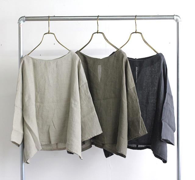 evam eva  エヴァムエヴァ リネンプルオーバー linen pullover E211T121