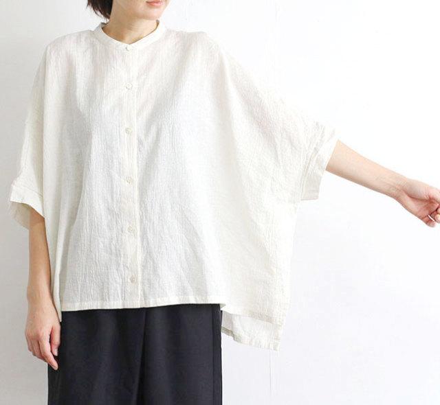 mizuiro-ind  ミズイロインド バンドカラーボックスシャツ 2-23841502