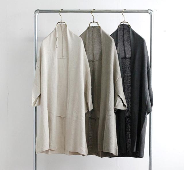 evam eva  エヴァムエヴァ シルクリリーローブ silk lily robe E213K049