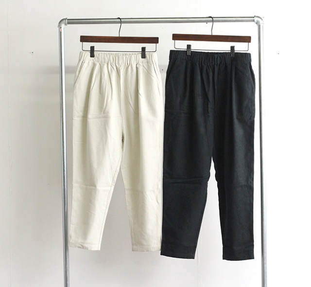 evam eva  エヴァムエヴァ レイジングコットン イージーパンツ raising cotton easy pants E213T085