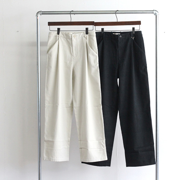 evam eva  エヴァムエヴァ レイジングコットン ワイドパンツ raising cotton wide pants E213T086