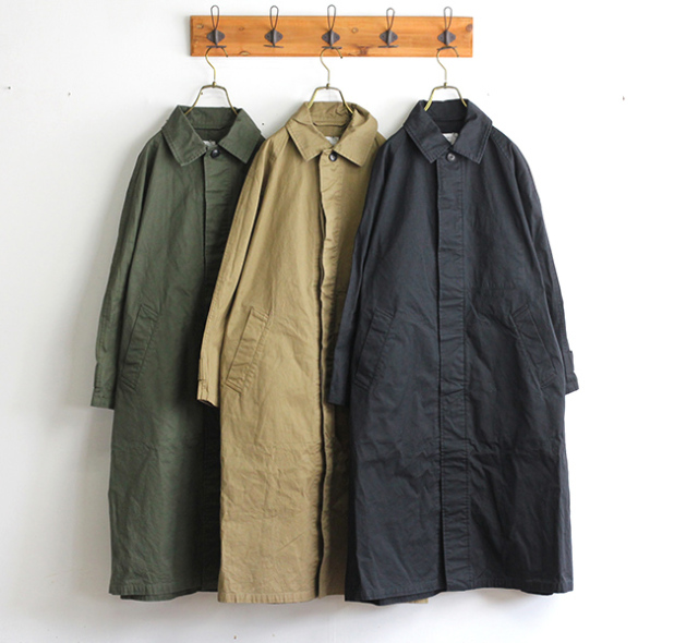 HTS NHT2051DT COTTON BALMACAAN COAT LENGTH 118cm バルマカーンコート