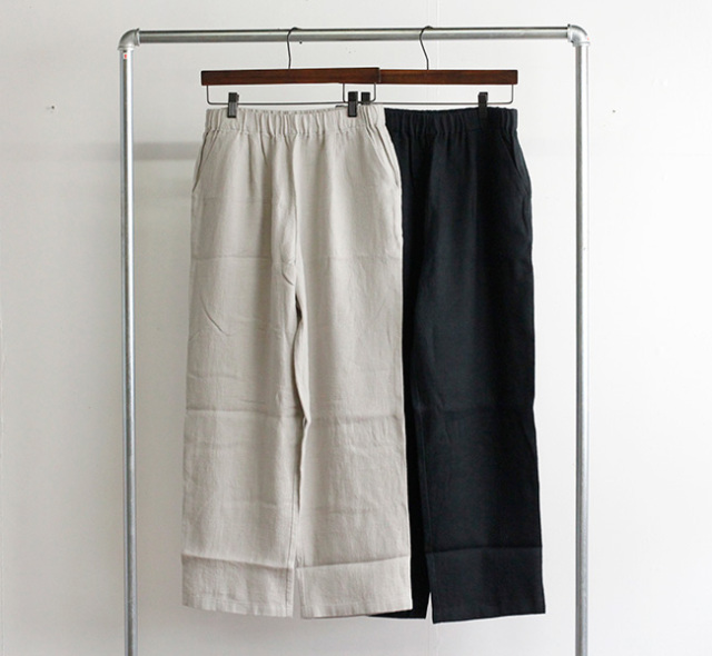 evam eva  エヴァムエヴァ リネンワイドパンツ linen wide pants V213T919