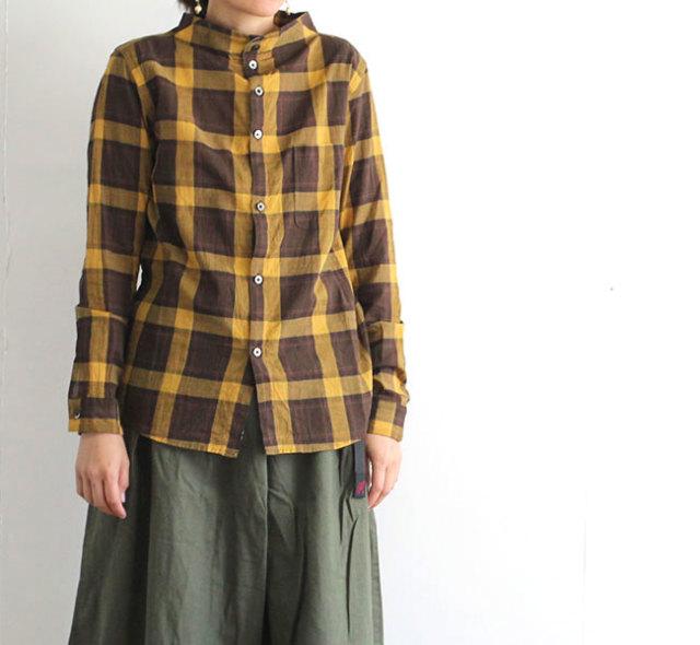 nisica ニシカ  ガンジーシャツ チェック レディース NIS-909