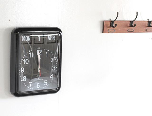 Twemco Radio Control Calendar Clock #RC-12A BLACK  トゥエンコラジオコントロールカレンダークロック #RC-12A ブラック