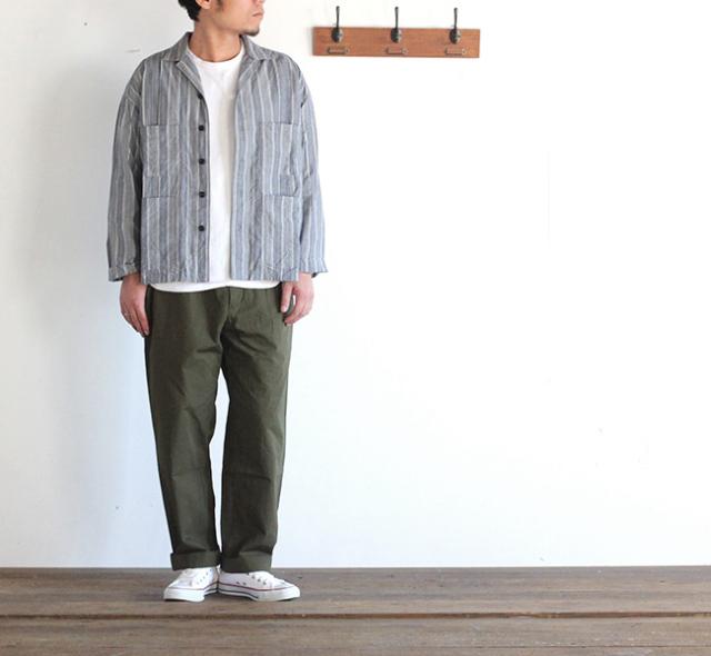EEL イール tuck & male 開襟シャツ