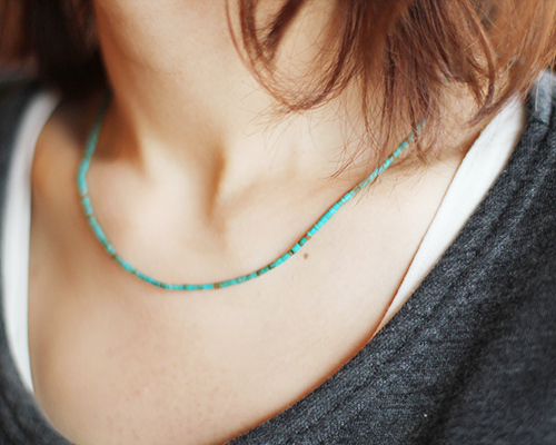 Truquoise and Copper Beads Necklace by SOURCE