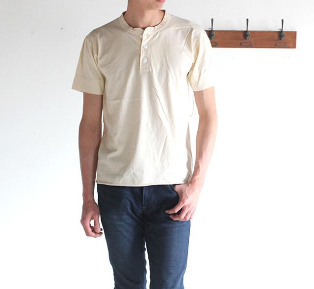 HEALTHKNIT ヘンリーネックショートスリーブTシャツ