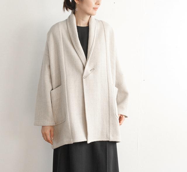 evam eva  エヴァムエヴァ ショートローブコート short robe coat E203T125