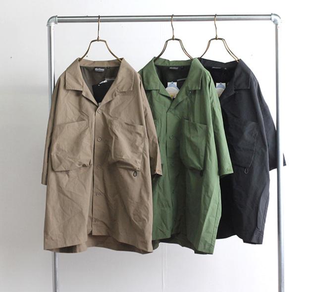 WILD THINGS ワイルドシングス ナイロンキャンプシャツ S/S CAMP SHIRT WT21016PA