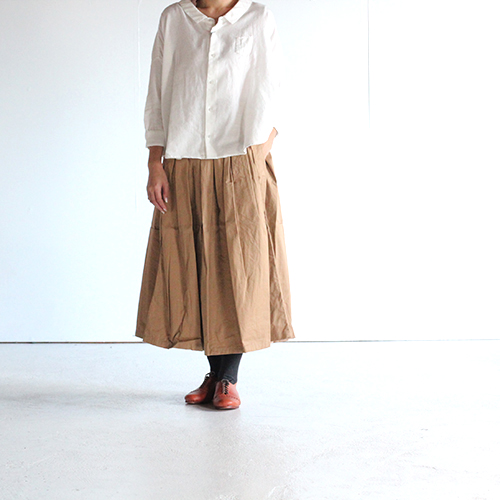 GRANDMA MAMA DAUGHTER(グランママドーター)/ チノプリーツロングスカート