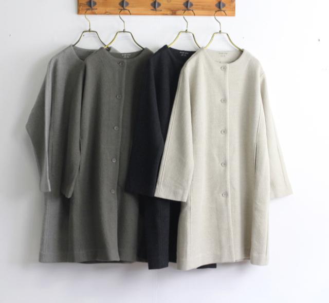evam eva  エヴァムエヴァ press wool coat