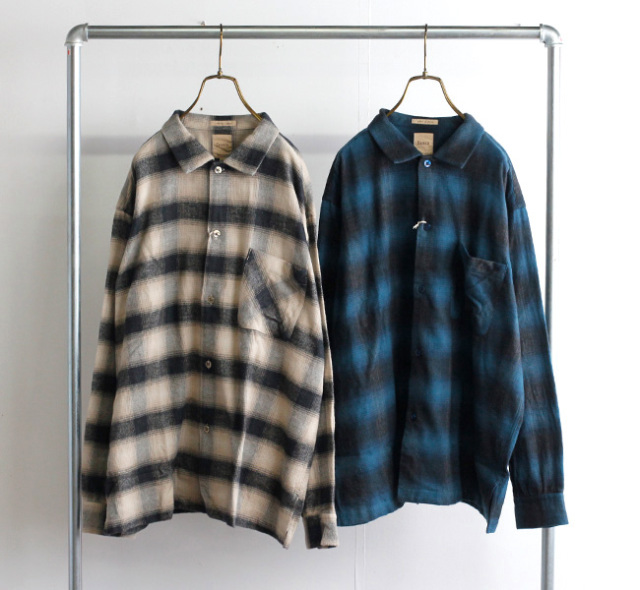 Sanca サンカ ネルチェックシャツ NEL CHECK  MINI OPEN  S21FSH06