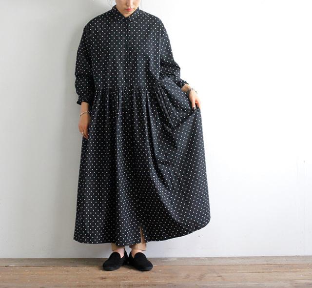 SOIL ソイル ドットシャツドレス NSL21523 40'S POPLIN DOT PRINT REGULAR COLLAR DRESS