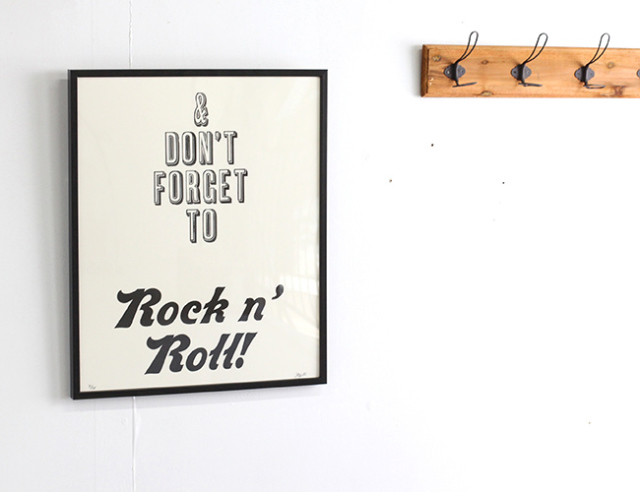 A TWO PIPE PROBLEM LETTERPRESS  DON'T FORGET THE ROCK'N ROLL   LLサイズ