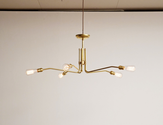 ACME FURNITURE アクメファニチャー SOLID BRASS LAMP MID LONG 5ARM ソリッドブラスランプミッドロングファイブアーム