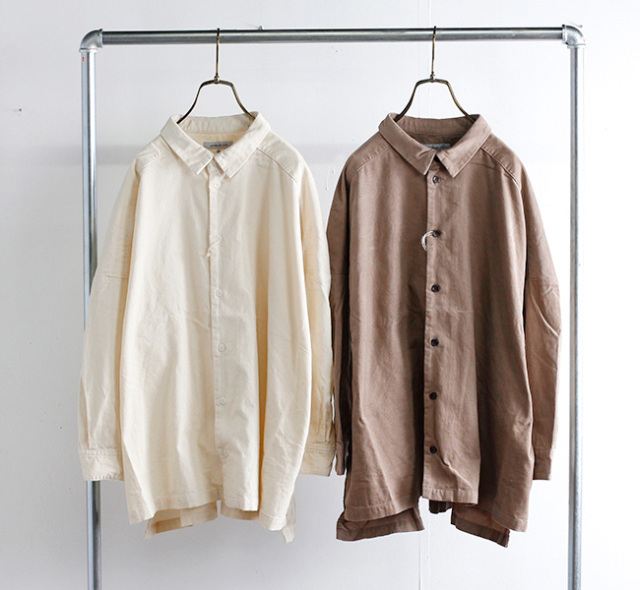 ordinary fits オーディナリーフィッツ ワイドバーバーシャツ WIDE BARBER SHIRTS OF-S061