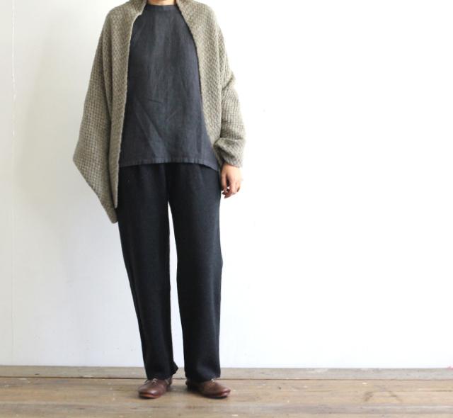 evam eva  エヴァムエヴァ press wool pants E193K046