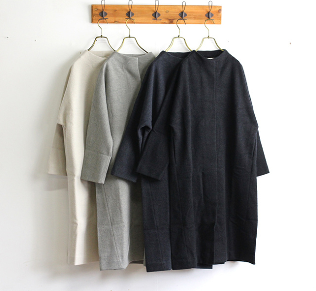 evam eva  エヴァムエヴァ press wool long coat E193K044