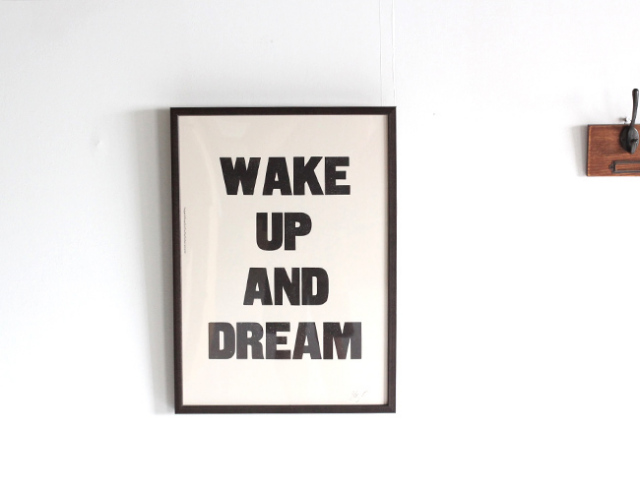 A TWO PIPE PROBLEM LETTERPRESS WAKE UP AND DREAM Lサイズ 再入荷