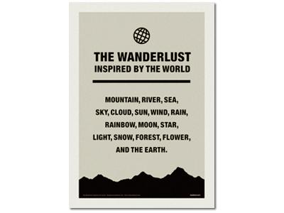 『The Wanderlust』フレーム付き
