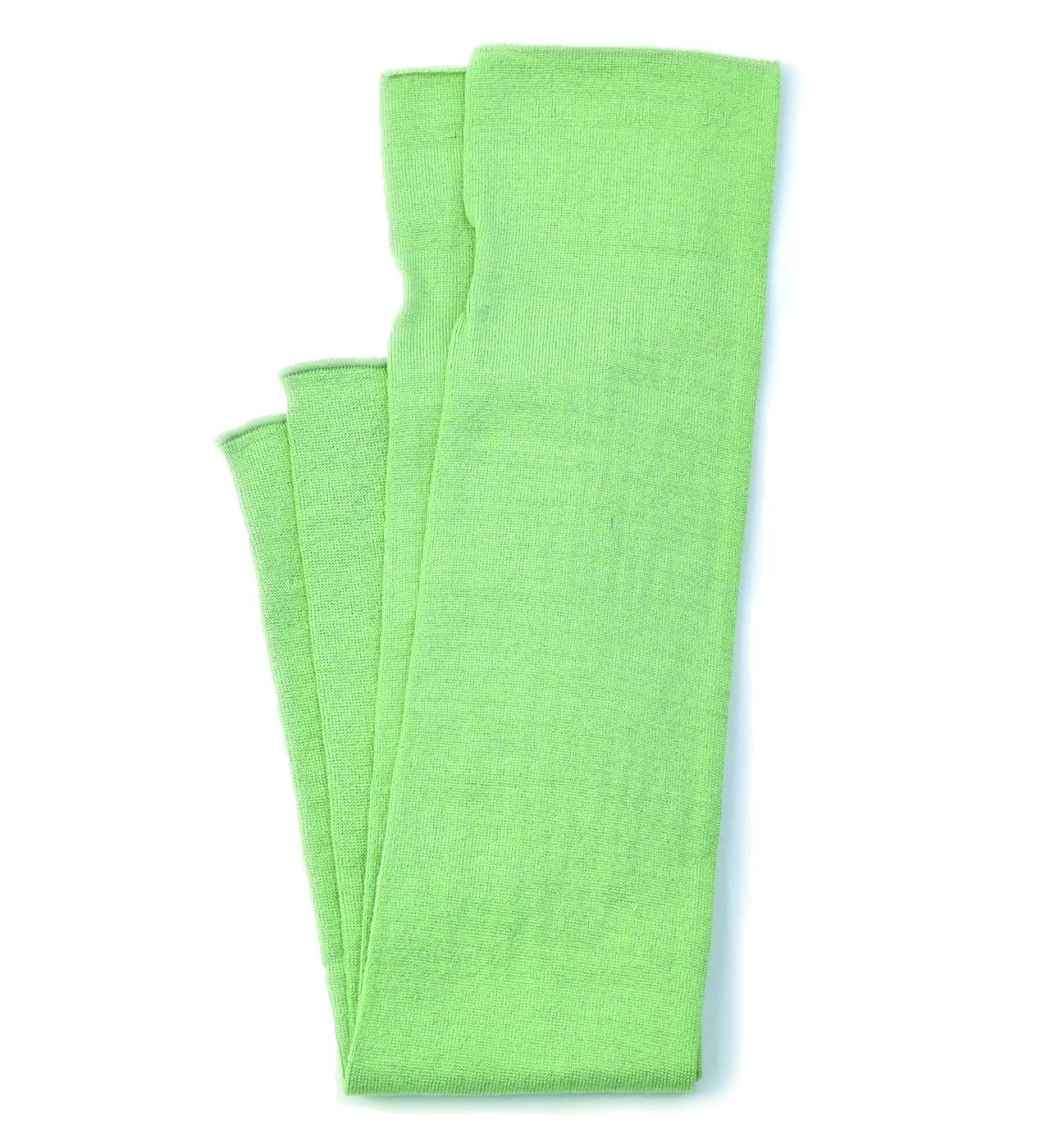 シルク糸でつくったニットアームカバー/グリーン