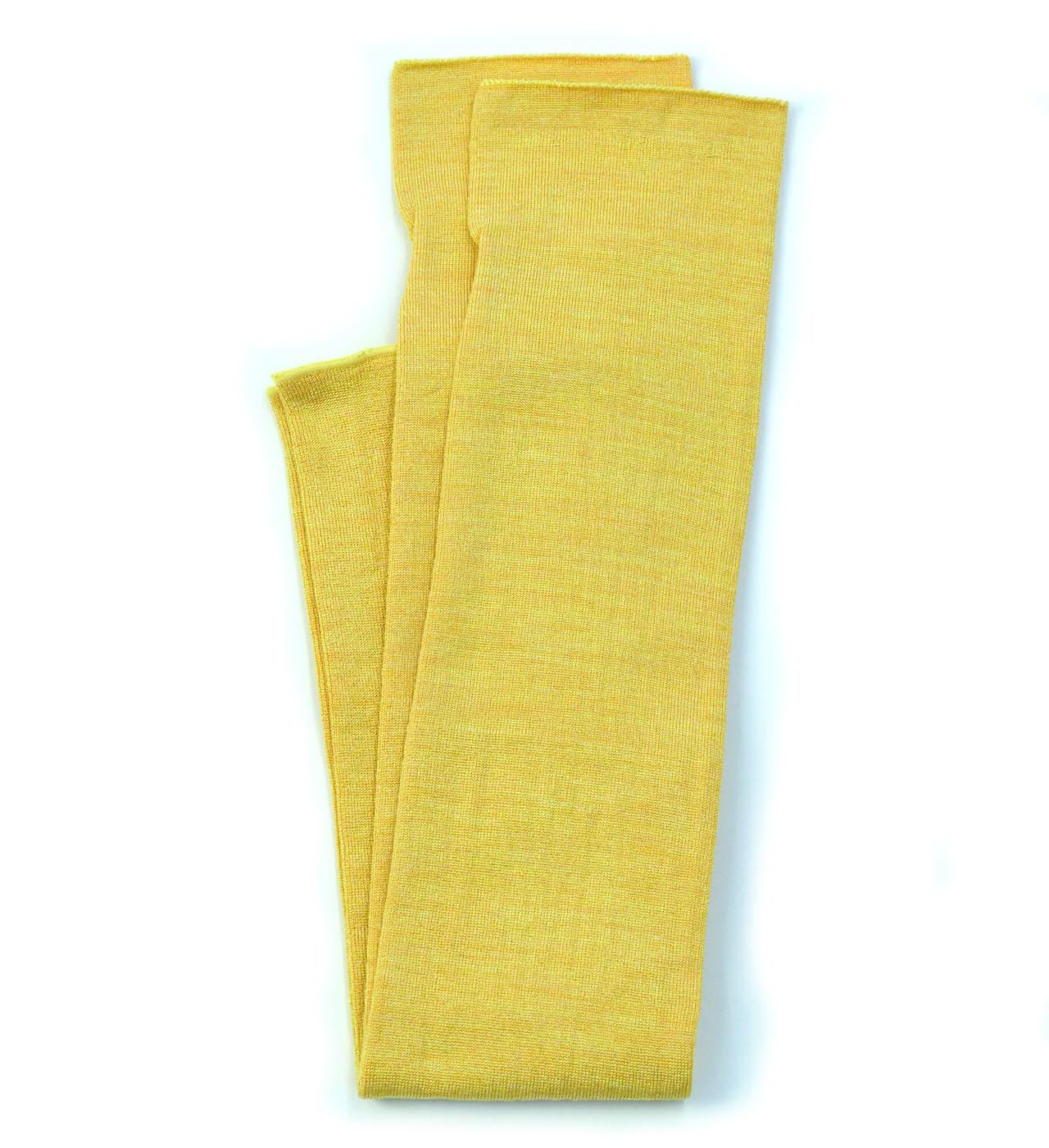 シルク糸でつくったニットアームカバー/イエロー