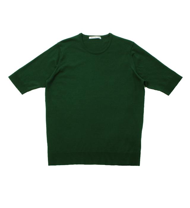 <レディース> ウルトラファインゲージ ギザコットン半袖プルオーバー/グリーン