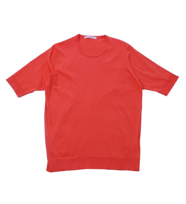 <レディース> ウルトラファインゲージ ギザコットン半袖プルオーバー/チェリーピンク