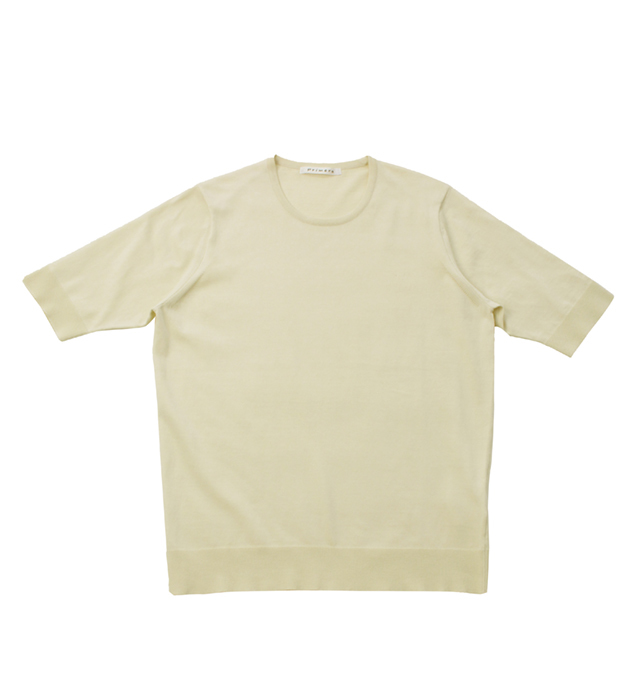 ウルトラファインゲージ ギザコットン半袖プルオーバー/オフホワイト