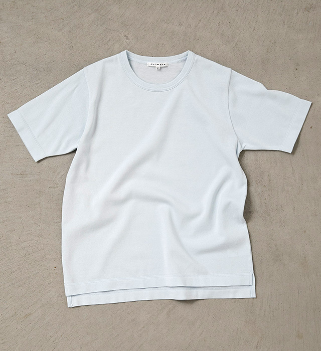 シャーベットカラーニットTシャツ