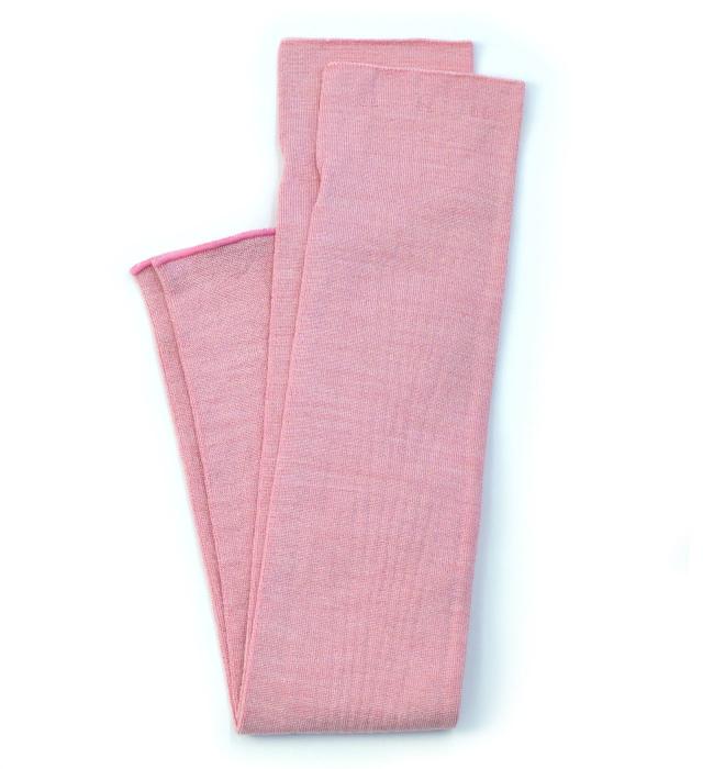 シルク糸でつくったニットアームカバー/ピンク