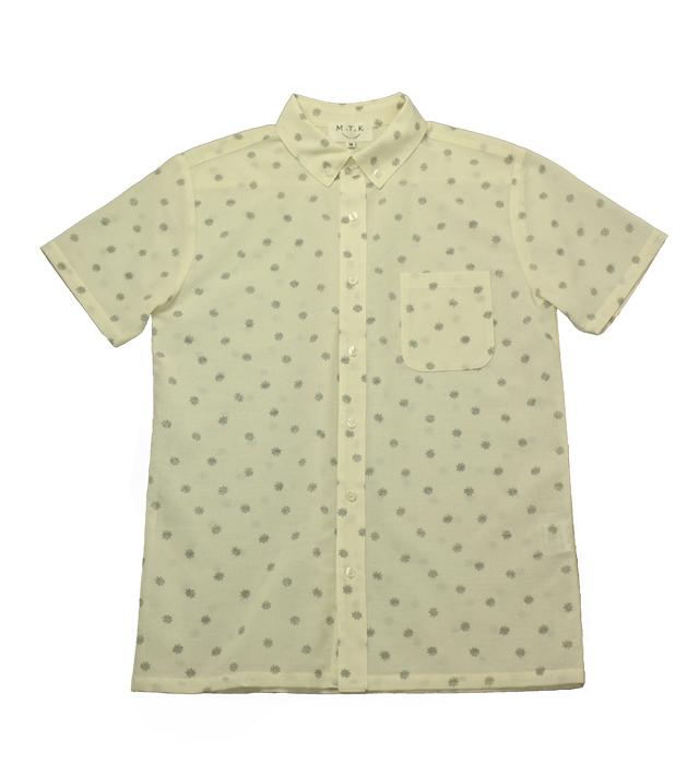 【メンズ】マンガン絣クールビズシャツ/2018年新作金平糖柄