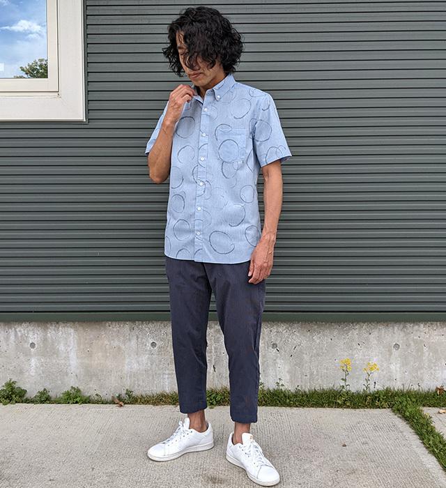 クールビズシャツ,マンガン絣,和柄シャツ,抗菌防臭シャツ,絣シャツ