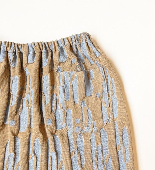 ニットスカート,ジャガードニット,見附ニット
