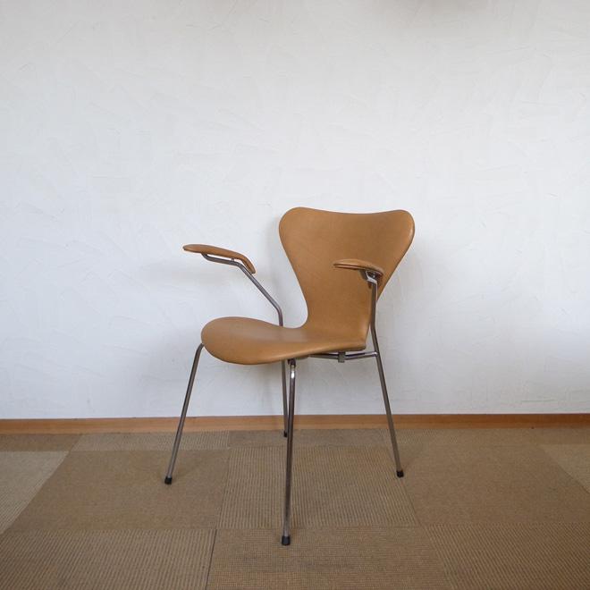 Arne Jacobsen / アルネ・ヤコブセン フリッツ・ハンセン 3213 セブンチェア レザー