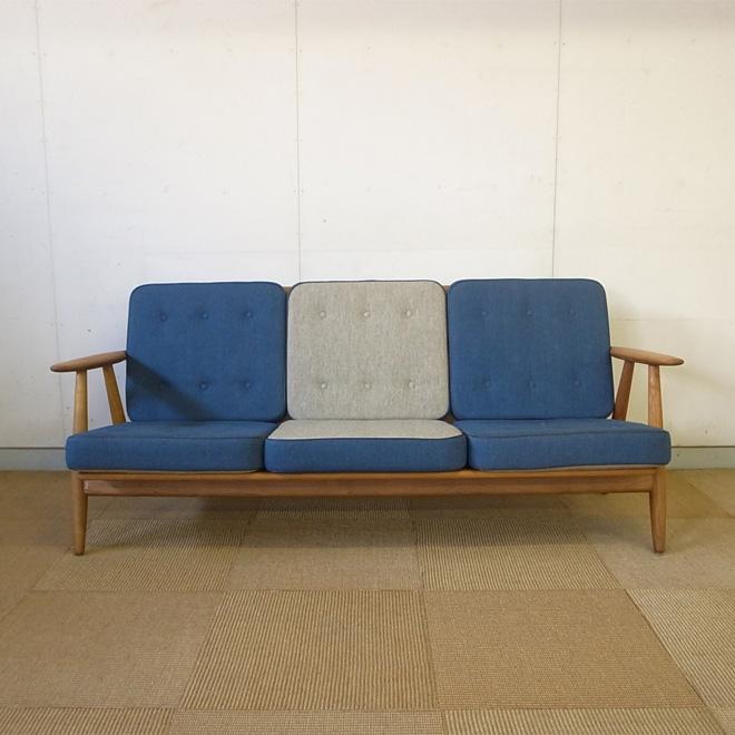 Hans J.Wegner / ハンス・J・ウェグナー GETAMA GE246 ソファ【オーク】 北欧ヴィンテージ家具