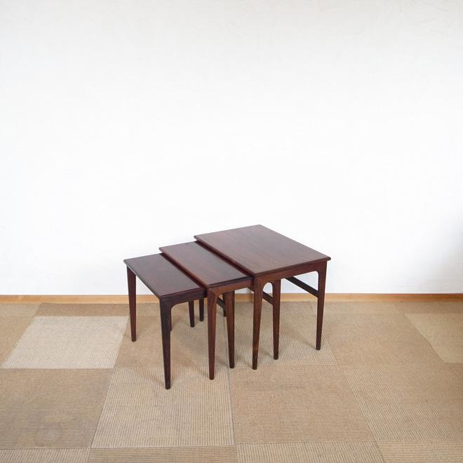 ネストテーブル【ローズウッド】