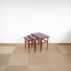 ネストテーブル【チーク】