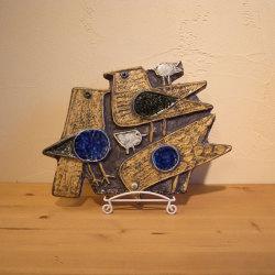Lisa Larson / リサ・ラーソン グスタフスベリ  ウォールプレート「鳥」