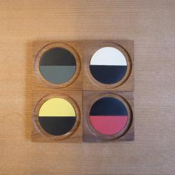 Laurids Lonborg  カラーコースター 4枚セット【チーク】