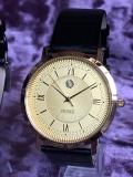 PRINCE 薄型クオーツ腕時計(ゴールド)
