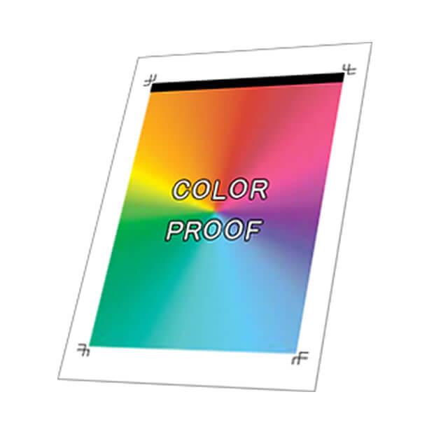 レポート用紙 カラープルーフイメージ