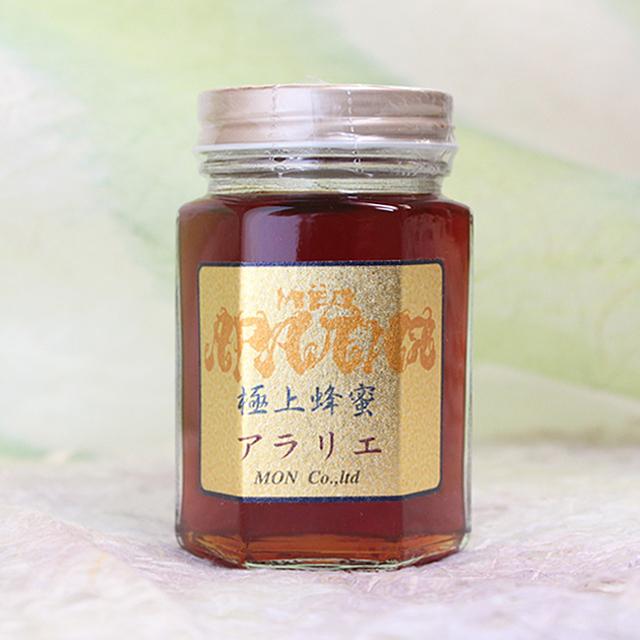極上アラリエ(ウコギ科の花の蜂蜜) 非加熱 生蜂蜜 180g