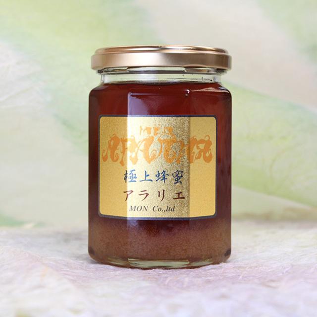 極上アラリエ(ウコギ科の花の蜂蜜) 非加熱 生蜂蜜 300g