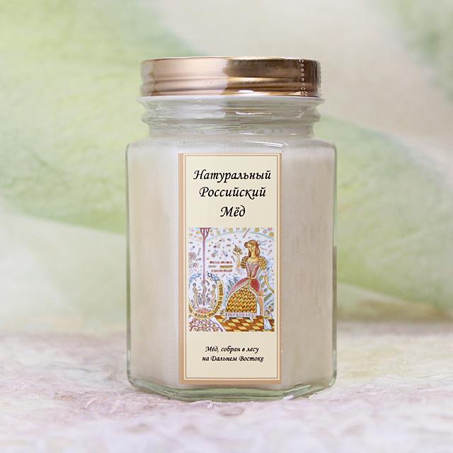 ホワイトハニー クリームリーパ(白いアムール菩提樹の花の蜂蜜) 非加熱 生蜂蜜 180g