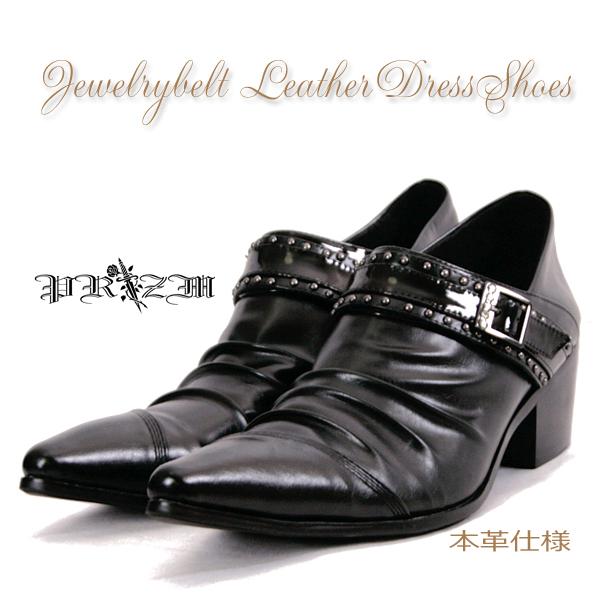 本革Jewelrybelt Dress Shoes