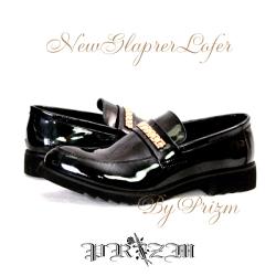 NewGlaprerLofer/メンズエナメルシューズ