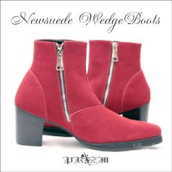 本革ブーツ・New Wedge Suede Boots メンズブーツ